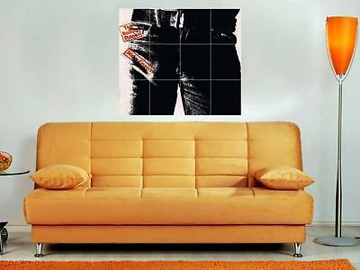 """The Rolling Stones 36""""x32"""" Inch Mosaic Wall Poster Jagger Sticky Fingers Album"""