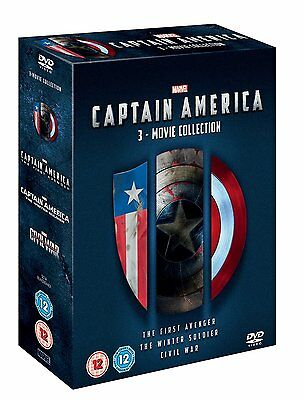 CAPTAIN AMERICA 3 Movie Collection BOX 3 DVD in Inglese NEW .cp