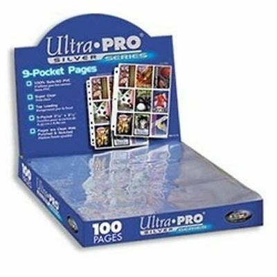10 ULTRA PRO SILVER 9 POCKET PAGES SHEETS