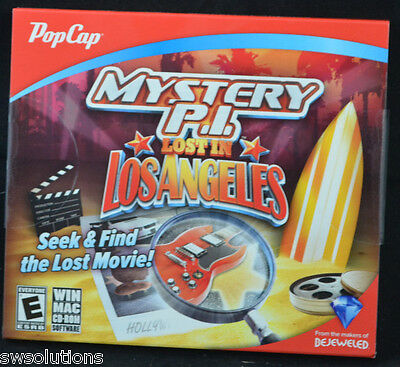 Mystery P.I.: Lost in Los Angeles Brand New PC Puzzle Hidden Object PopCap Game