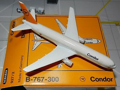 Schabak 1:600 Scale Diecast 927-2 Condor Airlines Boeing 767-300 New in Box