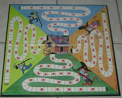 IDEAL  MUSHMOUSE AND PUNKIN' PUSS  GAME BOARD ONLY  1964  HANNA BARBERA