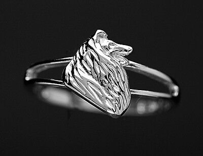 Bague Chien COLLEY - Ring with COLLIE DOG