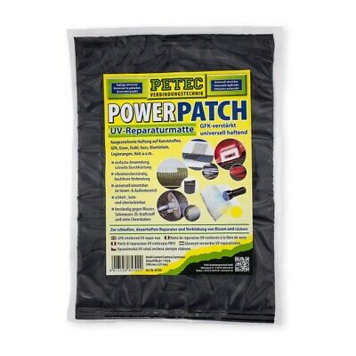 Petec 85300 Power Patch GFK verstärkte  UV Reparaturmatte