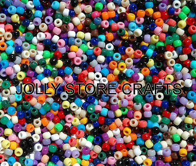 500 Multi Colors 9x6mm Pony Beads for school crafts paracord jewelry kids kandi