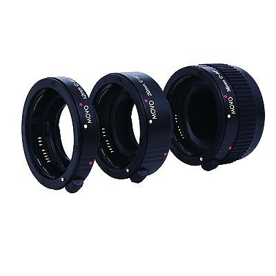 Movo Photo Auto Focus Eco Macro AF Extension Tube Set for Canon EOS SLR Camera