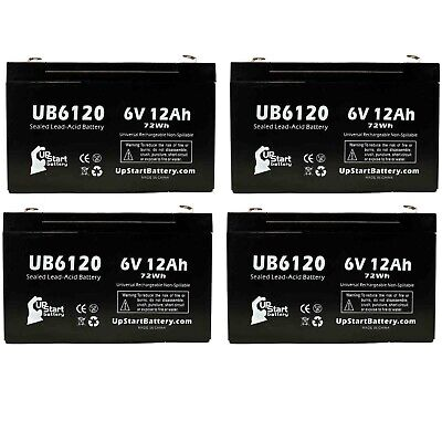 4 Pack Brand Product Mighty Max Battery 6V 12AH F2 Replacement Battery for Tripp-Lite SM500RMNAFTA