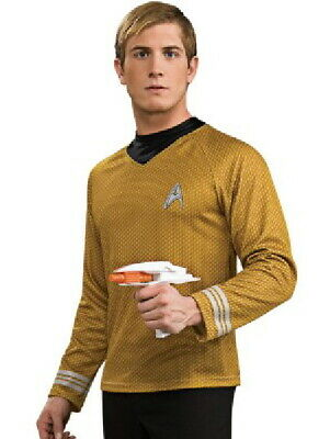 Star Trek New Movies Captain Kirk Command Gold Adult Deluxe Uniform Shirt SEALED