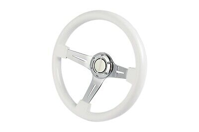 "Wood Boat Steering wheel W/ Adapter 3 spoke boats with a 3/4"" tapered key Marine"