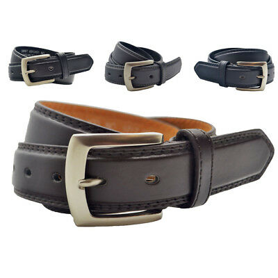 """Mens 1.5"""" (40mm) Leather Belt For Trousers and Jeans"""