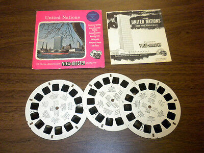 UNITED NATIONS 1955 (420-A,B,C) Viewmaster PACKET