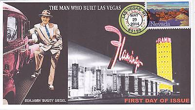Jvc Cachets - 2014 Nevada Statehood Issue First Day Covers Fdc - Bugsy Siegel