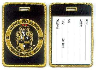 ALPHA PHI ALPHA Luggage ID Tags (Set of 2) Large - Crest - Shield