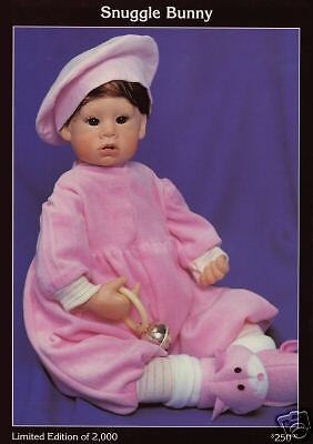 "Ltd Ed Doll by Good-Kruger ""Snuggle Bunny"" in vinyl NIB w/Certificate"