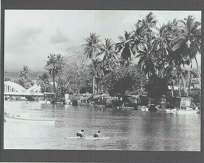 "SURFERS AT HALEIWA HARBOR 1966's HAND PRINTED SILVER HALIDE PHOTO ON 8x10"" MATT"
