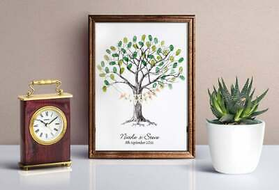 Large Wedding Fingerprint / Thumbprint Tree- Unusual Wedding Gift WITH BUNTING