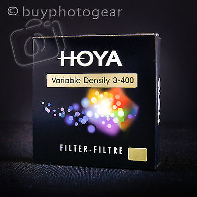 58mm Hoya Variable Neutral Density Camera Lens Filter ND3-ND400 (A-58VDY)