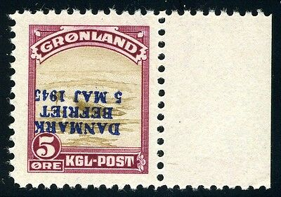 Greenland Sc# 20 Inv Mi# 18Inv Inverted Overprint Liberation Mint Nh As Shown