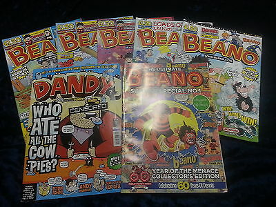 A Collection Of 7 Beano Comics 2011 ** Uk Post £3.25 ** Paperbacks