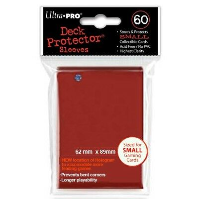Ultra Pro 60 Small Size Red Deck Protector Sleeves Fit Yugioh