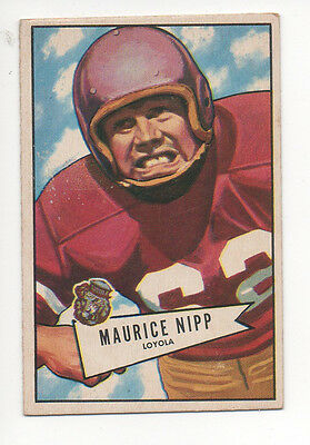 1952 Bowman Small Football Card #107 Maurice Nipp-Philadephia Eagles