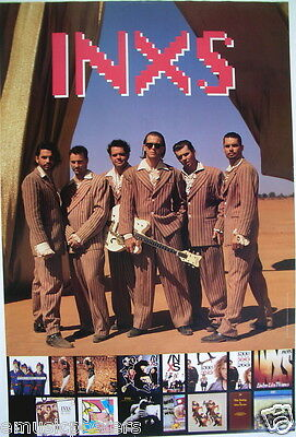 """INXS """"WELCOME TO WHEREVER YOU ARE"""" 2-SIDED U.S. PROMO POSTER: Group Shots & Lp's"""