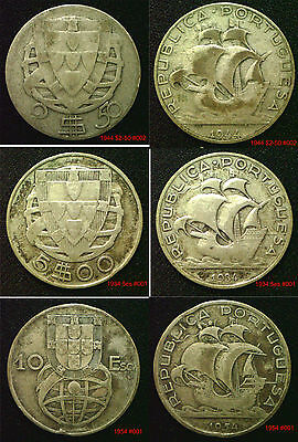 PORTUGAL Silver Coins Choice of coins supplied in coin wallet