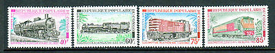 Congo/People's Rep. SC#233-6 MNH, (4) stamp Locomotives Set issued in 1970/