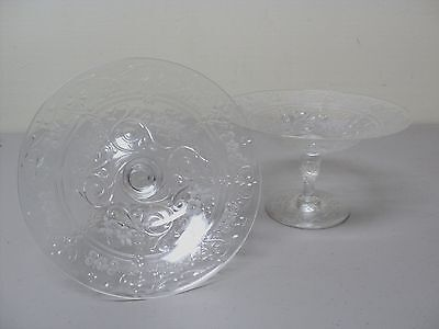 GORGEOUS PAIR of ANTIQUE THOMAS WEBB ENGLISH ROCK CRYSTAL COMPOTES, c. 1900