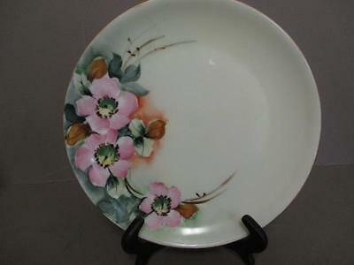 HUTSCHENREUTHER SELB BAVARIA HANDPAINTED PLATE pink rose floral kk