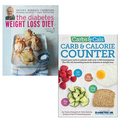 Diet Book Collection (The Diabetes Weight Loss Diet,Carbs & Cals) 2 Books Set