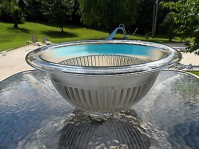 "7 1/8"" Clear Crystal Mixing Bowl Federal Depression Glass 1930's Era"