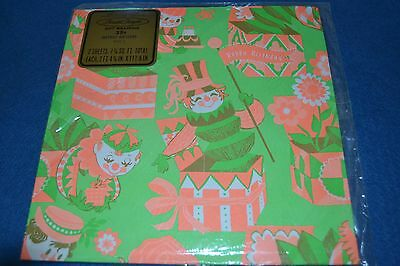 Vtg HAPPY BIRTHDAY Paper Gift Wrap JACK IN THE BOX TOY by Pleasant Thoughts NOS