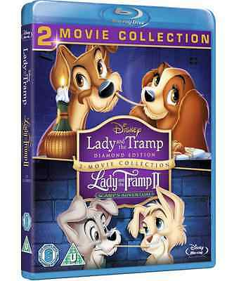 Lady And The Tramp I & II Collection (Blu-Ray Movie, 2-Disc, Diamond DISNEY) NEW