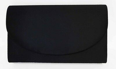 NEW Black Ladies Satin Handbag Purse Evening Bag Wedding Formal Bridal #6420