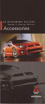 2008 08 Mitsubishi Eclipse   Accessories Original Brochure