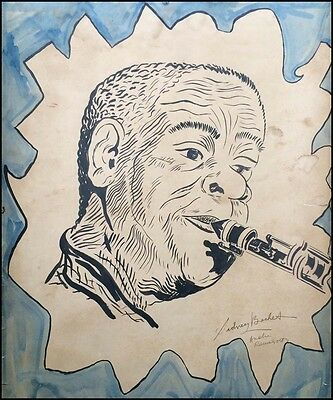 Sidney BECHET (Jazz): Enormous Signed Portrait