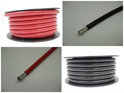 4 AWG Gauge Battery Cable Marine Grade Tinned Copper Wire Flexible Power