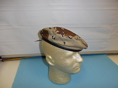 b3950-60 US 6 color Chocolate Chip Camouflage Beret size 60 Iraq