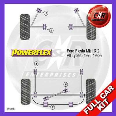 Ford Fiesta Mk2 XR2 (76-89) Powerflex Complete Bush Kit