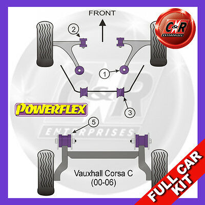 Opel Corsa C (00-06) Powerflex Complete Bush Kit