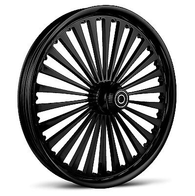 """Dna """"ss2"""" Gloss Black Forged Billet Wheel 21"""" X 2.15"""" Front Harley Softail Dyna"""