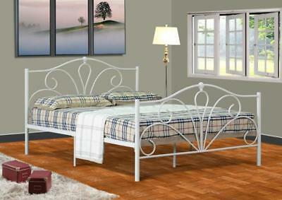 3Ft 4Ft 4Ft6 Ivory Metal Bed Frame New Stock Just Arrived Valentine Metal Bed