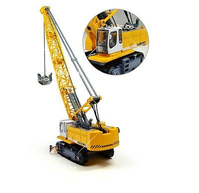1:87 KDW 1891 Liebherr Track Excavator Tower Crane Engineering Diecast Model