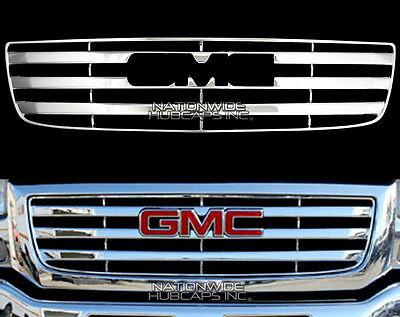 2003-2006 GMC Sierra 1500 CHROME Snap On Grille Overlay Grill Cover Front Insert