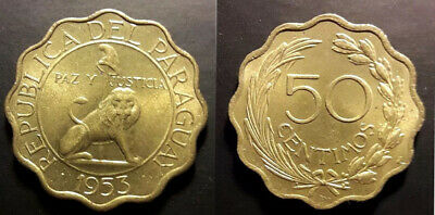 Paraguay 1953 50 Centimos Uncirculated (KM28)