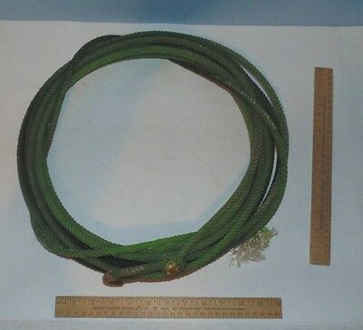 Used Cowboy Rope - Used Lariat - green - unmarked