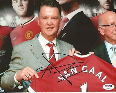 MANCHESTER UNITED LOUIS VAN GAAL signed autographed 8x10 PHOTO PSA/DNA COA
