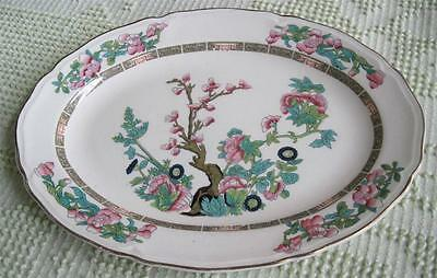 """1940's Edwin Knowles China Indian Tree 12"""" Oval Serving Platter"""