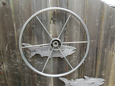 Authentic 20 Inch Stainless Steel Boat Ships Wheel Sailboat Decor